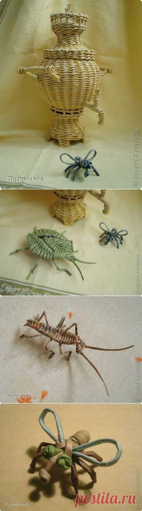 (+1) тема - Жучки-паучки из бумажных трубочек. Автор Пустельга | СДЕЛАЙ САМ!