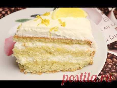 Лимонный торт.  Очень нежный и вкусный