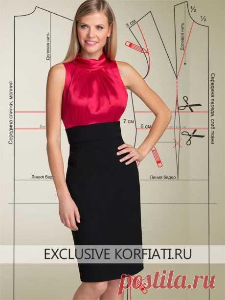 Выкройки летних платьев — изумительно красиво!  https://korfiati.ru/2012/03/vyikroyki-letnih-platev/  Стильное и эффектное красно-черное платье, в первую очередь, подкупает контрастом цветов и фактур тканей, из которых оно сшито. Ярко-красный верх явно солирует в этом дуэте шелка и крепа.  В таком платье можно пойти и в театр и на вечеринку, главное — подобрать подходящие аксессуары. Например — наденьте крупные серьги и широкий золотой браслет — и вечерний образ готов! К т...