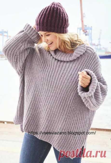 ВСЕ СВЯЗАНО. ROSOMAHA.: Пуловер-наволочка: cвяжи себе за выходные, это быстро!