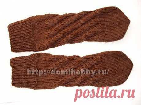 Носки со спиральной пяткой