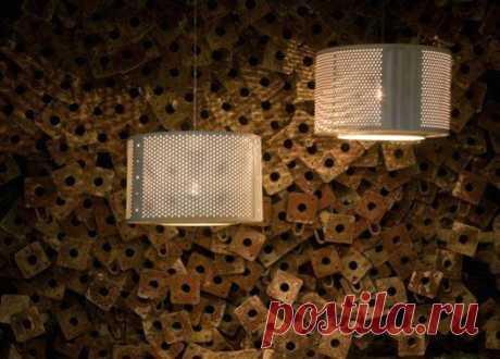 Можно своими руками сделать напольный или потолочный светильник из барабана стиральной машины