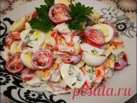 SALAD recipe QUAIL eggs and Salad TASTY and FAST CHICKEN fillet Salad salads