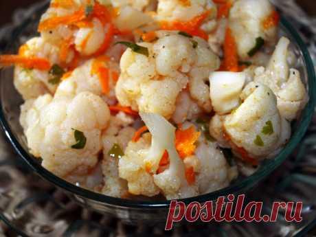 Маринованная цветная капуста — Sloosh – кулинарные рецепты