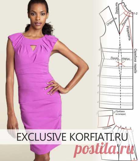 Платье-мечта с завышенной талией от А. Корфиати Это платье с завышенной талией - настоящая мечта для модниц! У платья столько интересных деталей. Выкройка платья с завышенной талией моделируется просто