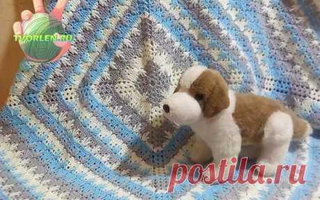 Детское одеяло крючком схема и описание вязания