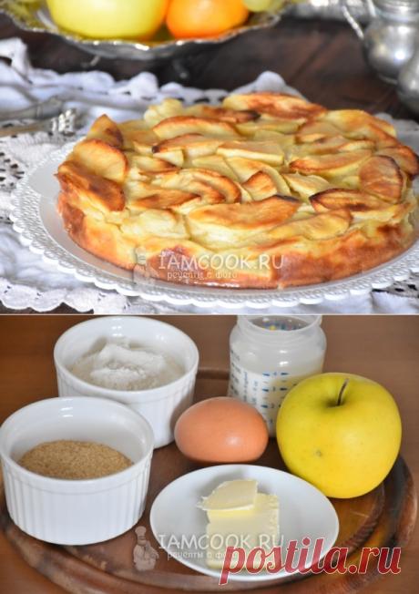 Яблочный пирог почти без муки — рецепт с фото пошагово