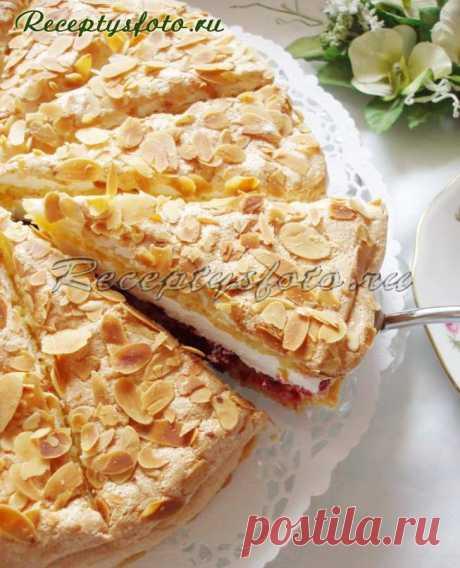 Вишневый торт с творожно-сметанным кремом - Рецепты с фото