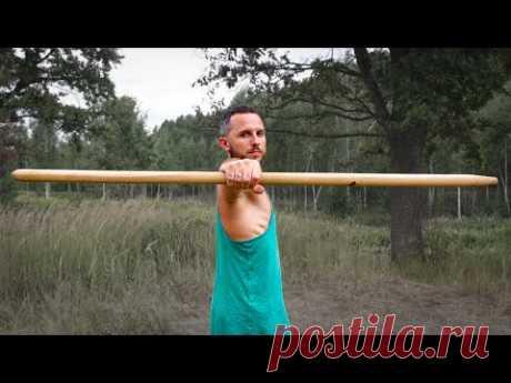 Болят руки и шея? Освой эти простые упражнения с палкой 1.1
