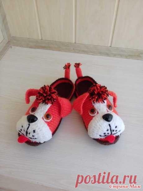 Тапочки собачки 2 - Вязание - Страна Мам