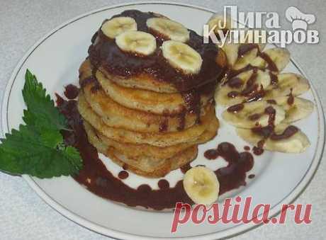 Оладьи банановые — рецепт пошаговый от Лиги Кулинаров