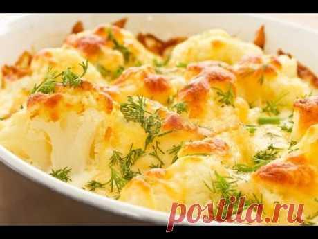 La coliflor bajo la salsa el Bechamel