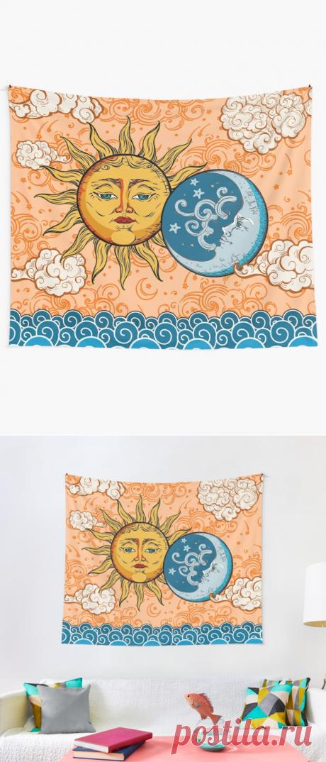 Sun God & Moon #1 Tapestry