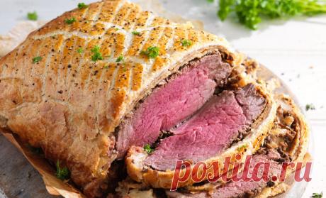 Мясо в тесте на всю неделю: ставим килограмм говядины в духовку