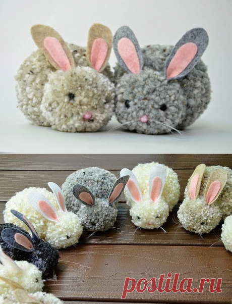 Кролик из пряжи - чудесная игрушка за считанные минуты