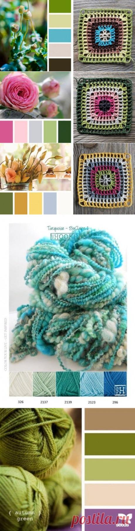 Эффектные цветовые сочетания для Ваших вязаных изделий   Ирина Буланова   Яндекс Дзен