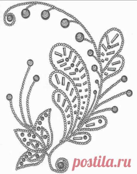 вышивка бисером на одежде фото схемы– Google Поиск