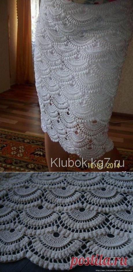 La falda por el gancho