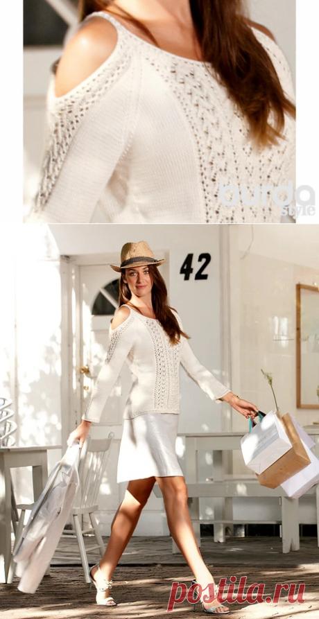 Модный пуловер — Мастер-классы на BurdaStyle.ru
