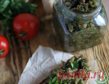 Икра из печёных баклажанов с чесноком – кулинарный рецепт