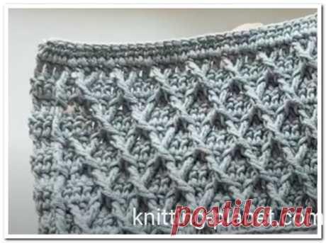 Узор ромбы крючком видео. Ромбы крючком мастер-класс   Knitting Planet