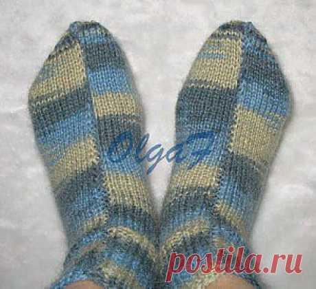 Вязание носков на 2-х спицах