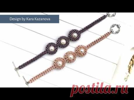 Pearl Planets bracelet tutorial | Cubic Right Angle Weave | Beaded Bracelet