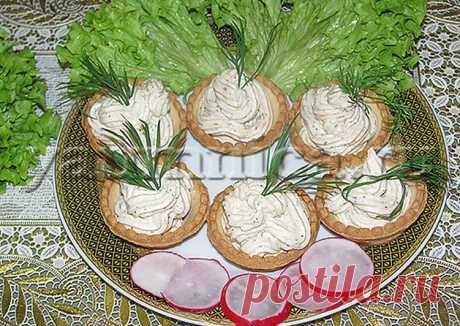 Тарталетки с рыбной начинкой - пошаговый рецепт с фото. Автор рецепта Лариса Вовк 🌳 . - Cookpad