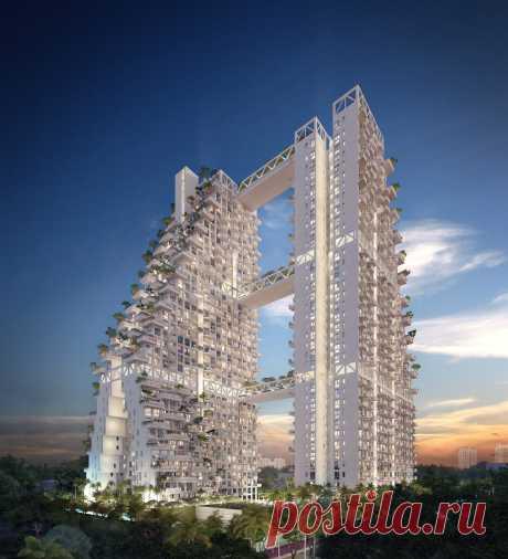 Sky Habitat - роскошный жилой комплекс в Сингапуре.