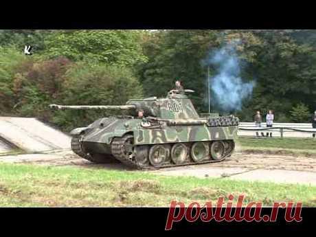 Panzer Panther im Gelände German Tank in Motion 2009 Trier - YouTube