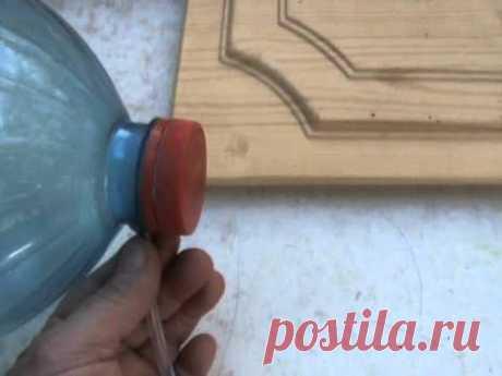 Регулятор температуры в теплице из пластиковых бутылок