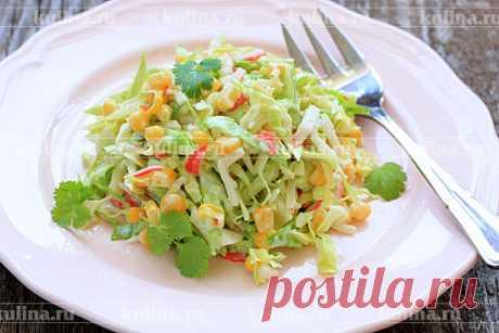 Салат из капусты с крабовыми палочками – рецепт приготовления с фото от Kulina.Ru
