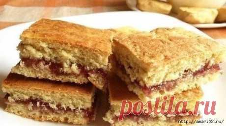Утилизируем старый кефир - готовим вкусное печенье на кефире с начинкой из любимого варенья | Четыре вкуса