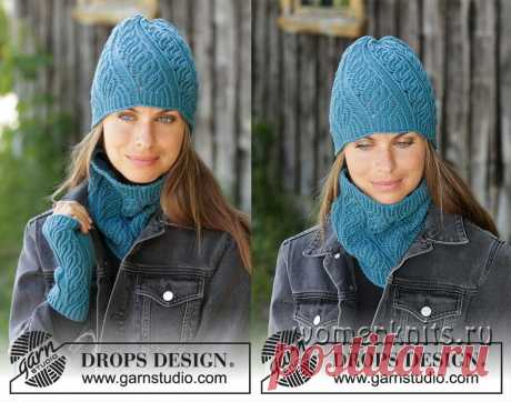 Комплект из шапки, снуда и митенок Winter Twist