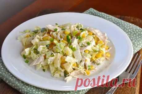 Салат из пекинской капусты с курицей. Насыщенное витаминами блюдо зарядит энергией всю семью - Скатерть-Самобранка - медиаплатформа МирТесен