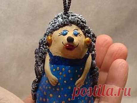 """Мастер-класс """"глиняный колокольчик Ежиха"""" - Ярмарка Мастеров - ручная работа, handmade"""