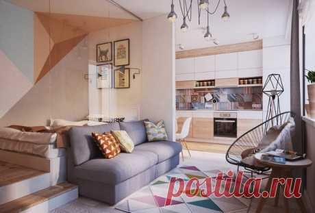 Современный интерьер студии 40 кв. м. - Дизайн интерьеров | Идеи вашего дома | Lodgers