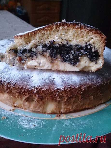 Творожно-маковый пирог.