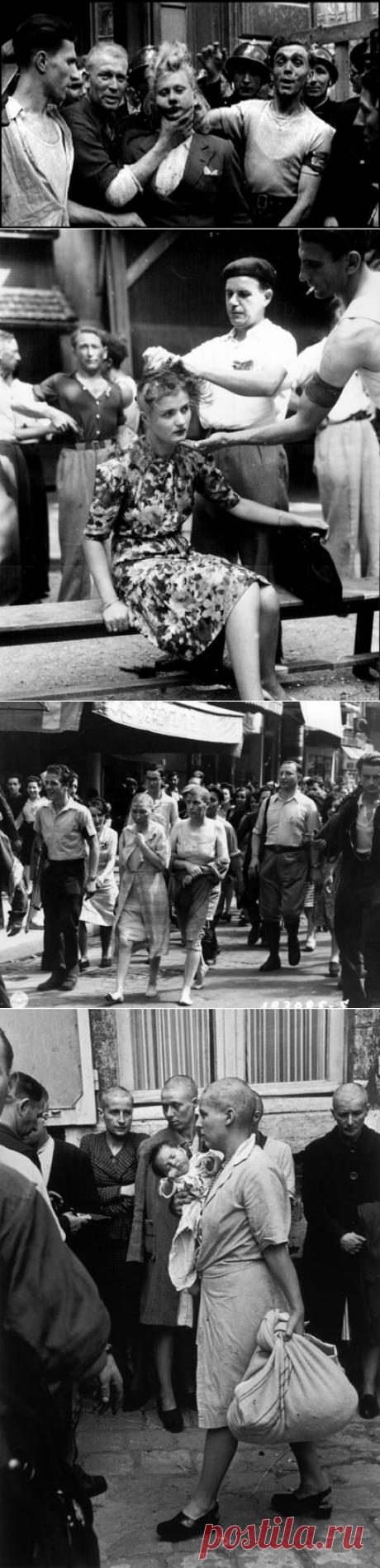 """Наказание для """"немецких подстилок"""". Франция   Военная история   Яндекс Дзен  После окончания Второй мировой войны на территории европейских государств осталось проживать значительное число женщин, состоявших в интимных отношениях с гитлеровцами.  Их презрительно именовали """"немецкими подстилками"""" и преследовали по всей Европе. Франция не стала исключением. Всю злость за немецкую оккупацию французы выплеснули на этих женщин."""