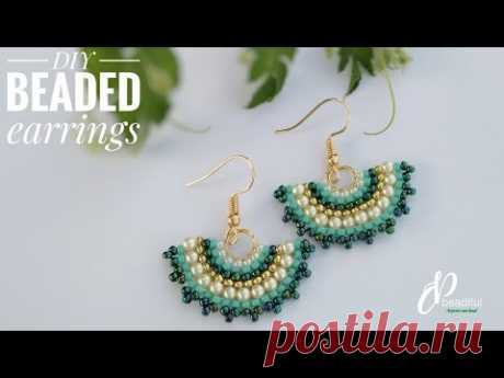 Brick stitch earrings   Easy to make gorgeous earrings   How to make earrings   DIY beaded earrings