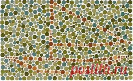 Тест на дальтонизм: если у вас все в порядке со зрением, то увидите, что скрыто на картинках . Милая Я
