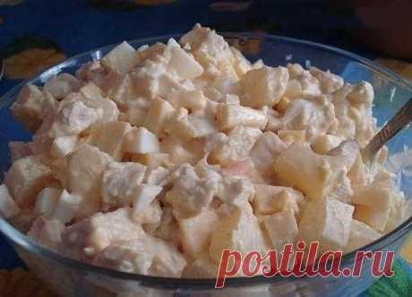 Как приготовить салат с ананасами и курицей - рецепт, ингридиенты и фотографии