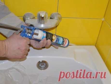 Щель между ванной и стеной: простые и эффективные способы заделки стыка