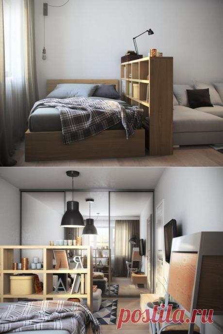 Однокомнатная квартира в Москве, 36 кв. м - Дизайн интерьеров   Идеи вашего дома   Lodgers