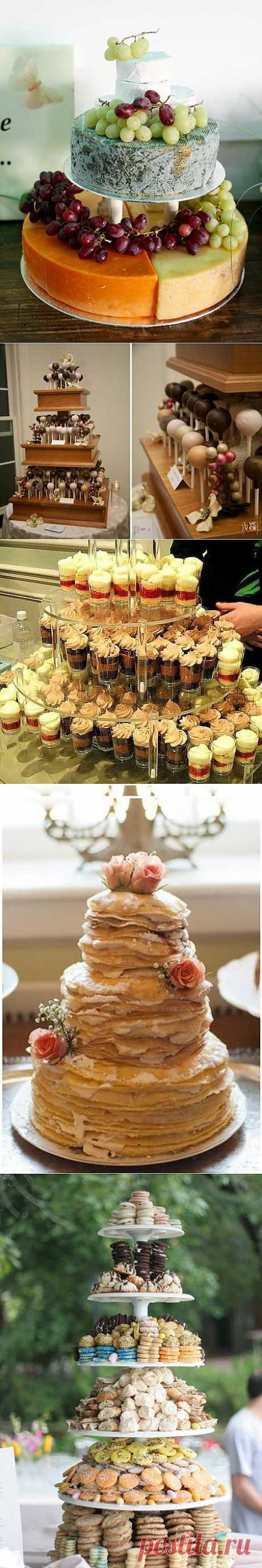 Прикольные альтернативы традиционному свадебному торту