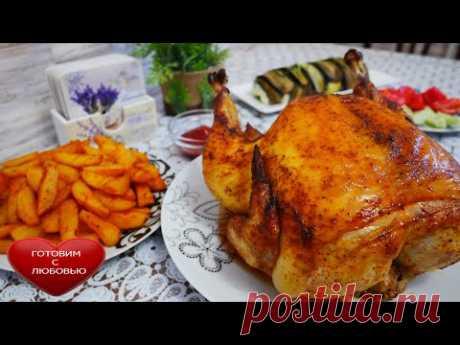 Запеченная курица с картофелем в духовкеВКУСНЕЕ вы не пробовалиУжин в духовке быстро и вкусно - YouTube