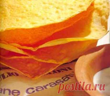 Pane carasau — Тонкие хрустящие хлебцы Мастер-классы, Хлеб и несладкая выпечка