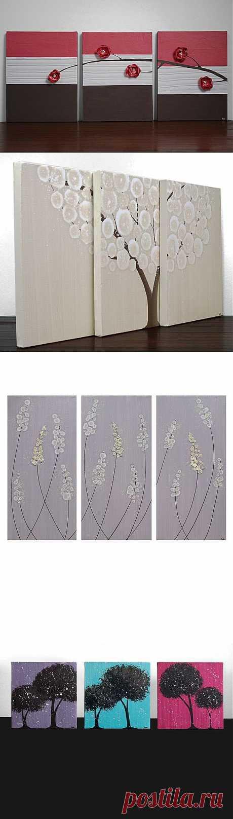 Как украсить стены: картины для тех, кто не умеет рисовать