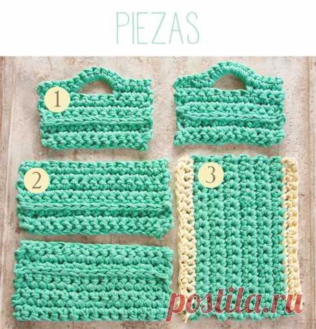 Sweet&Вязать: Pattern magazine rack or square basket XXL Hook