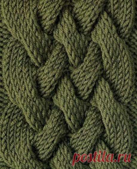 Узор «Сложная коса» для свитеров, пуловеров